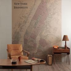 FLAX WALLPAPER フラックスウォールペーパー Old Map ニューヨーク
