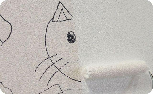 イマジンウォールペイント 壁紙の上に相性ぴったり