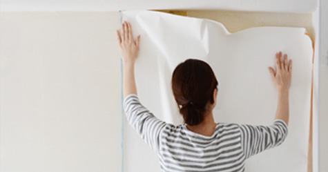 生のり付き壁紙施工方法手順2