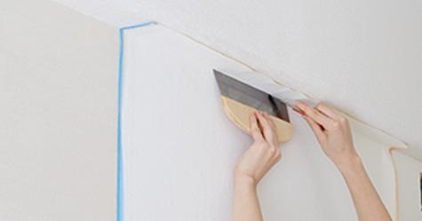 生のり付き壁紙施工方法手順3