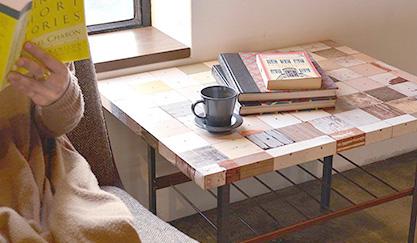 家具に輸入壁紙を貼る