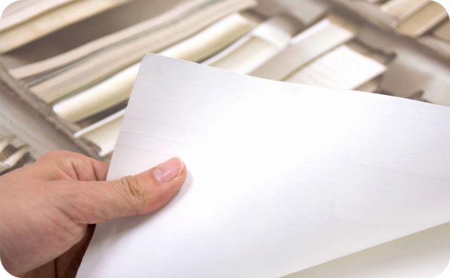 輸入壁紙 裏の材質