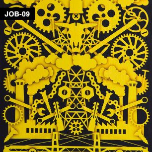 【切売】輸入壁紙 NLXL LAB Studio Job Robber Baron Wallpaper / JOB-09
