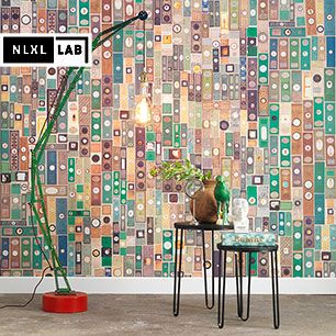 輸入壁紙 NLXL LAB MICROSCOPIC SLIDES WALLPAPER BY MR & MRS VINTAGE / MRV-10