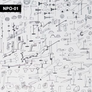 【切売】輸入壁紙 NLXL LAB Neil Poulton Sketched Wallpaper / NPO-01