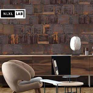 輸入壁紙 NLXL LAB 3 RUSTED METAL WALLPAPER BY PIET HEIN EEK METAL BROWN / PHE-19