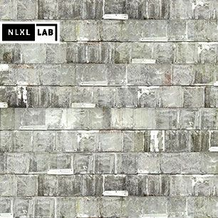 輸入壁紙 NLXL LAB 3 RUSTED METAL WALLPAPER BY PIET HEIN EEK METAL WHITE / PHE-20