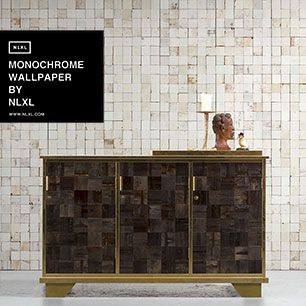 輸入壁紙 NLXL MONOCHROME WALLPAPER MOSAIC SQUARES WHITE WALLPAPER BY PIET HEIN EEK / PHE-21