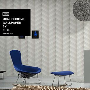 輸入壁紙 NLXL MONOCHROME WALLPAPER GRAPHIC CHEVRON WALLPAPER BY STUDIO BOOT / STB-01