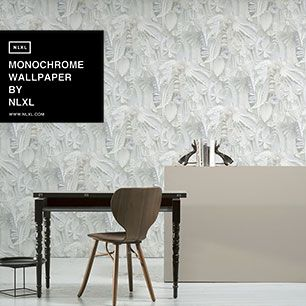 輸入壁紙 NLXL MONOCHROME WALLPAPER PAPER FLOWERS WALLPAPER BY STUDIO BOOT / STB-02