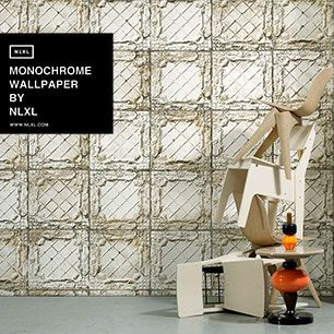 輸入壁紙 NLXL MONOCHROME WALLPAPER LARGE WHITE BROOKLYN TINS WALLPAPER BY MERCI / TIN-09
