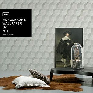 輸入壁紙 NLXL MONOCHROME WALLPAPER HEXA CERAMICS WALLPAPER BY STUDIO RODERICK VOS / VOS-01