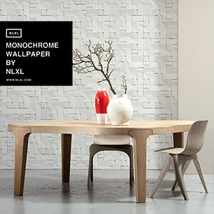 輸入壁紙 NLXL MONOCHROME WALLPAPER HOUSE CERAMICS WALLPAPER BY STUDIO RODERICK VOS / VOS-02