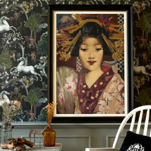 MINDTHEGAP WALL ART / GEISHA GIRL FA13176