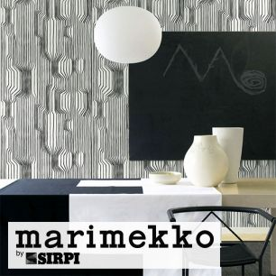輸入壁紙 marimekko(マリメッコ) Wallcoverings 5 / Frekvenssi Black 23365