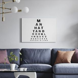 オーダーアートパネル PHOTOWALL / 5 Boroughs Eye Chart (e22632)