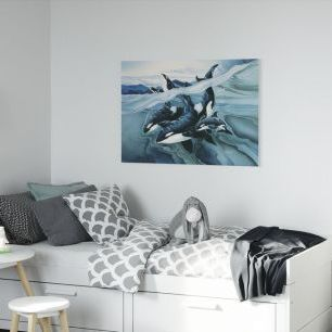 オーダーアートパネル PHOTOWALL / Blue Orca Families (e22786)