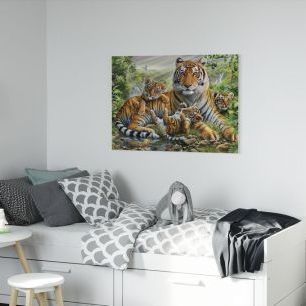 オーダーアートパネル PHOTOWALL / Tiger and Cubs (e23150)