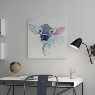 オーダーアートパネル PHOTOWALL / Watercolor Cow (e25653)