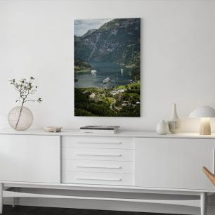 オーダーアートパネル PHOTOWALL / Boats in Geirangerfjord, Norway (e29911)