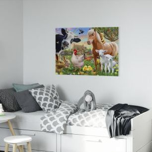 オーダーアートパネル PHOTOWALL / Farm Animals for kids (e312326)