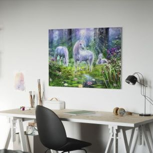 オーダーアートパネル PHOTOWALL / Forest Unicorn Family (e312560)