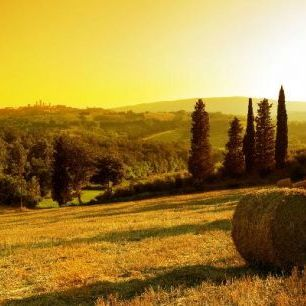 輸入壁紙 カスタム壁紙 PHOTOWALL / Sunset Tuscany Landscape (e19154)