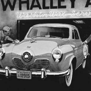 輸入壁紙 カスタム壁紙 PHOTOWALL / Studebaker Commander - b/w (e12058)