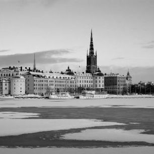 輸入壁紙 カスタム壁紙 PHOTOWALL / Winter in Stockholm - b/w (e10105)