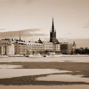 輸入壁紙 カスタム壁紙 PHOTOWALL / Winter in Stockholm - Sepia (e10106)