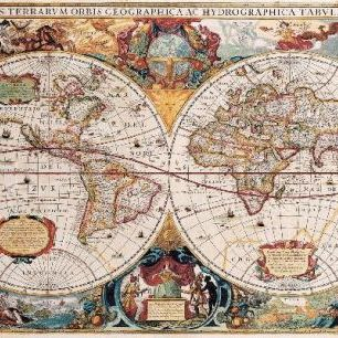 輸入壁紙 カスタム壁紙 PHOTOWALL / Antique Map - Henricus Hondius 1630 (e19954)