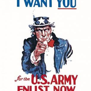 輸入壁紙 カスタム壁紙 PHOTOWALL / Uncle Sam Enlist Now (e20436)