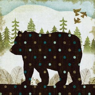 輸入壁紙 カスタム壁紙 PHOTOWALL / Woodland Dwellers Bear Dots (e21593)