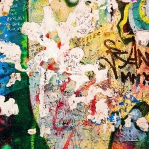 輸入壁紙 カスタム壁紙 PHOTOWALL / Part of Berlin Wall with Grunge Graffiti - Potsdamer Platz (e22799)