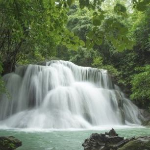 輸入壁紙 カスタム壁紙 PHOTOWALL / Beautiful Waterfall in Thailand (e23166)