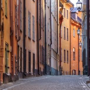 輸入壁紙 カスタム壁紙 PHOTOWALL / Street in Stockholm Old Town (e24169)