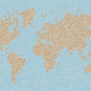 輸入壁紙 カスタム壁紙 PHOTOWALL / World Map Dot Texture (e25468)