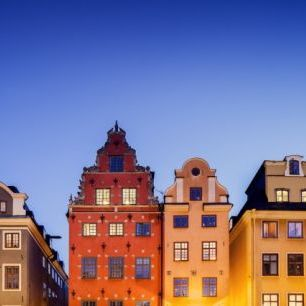 輸入壁紙 カスタム壁紙 PHOTOWALL / Buildings in Stockholm Old Town (e29968)