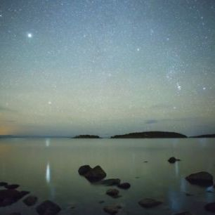 輸入壁紙 カスタム壁紙 PHOTOWALL / Starry Sky over juniskar, Sweden (e40464)