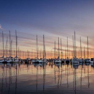 輸入壁紙 カスタム壁紙 PHOTOWALL / Sailboats in Sunset, Gothenburg Sweden (e40481)