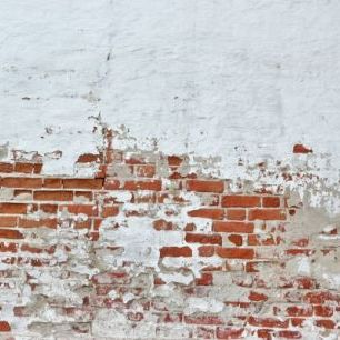 輸入壁紙 カスタム壁紙 PHOTOWALL / Red Brick Wall with Sprinkled White Plaster (e40677)