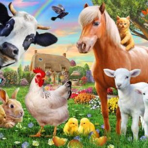 輸入壁紙 カスタム壁紙 PHOTOWALL / Farm Animals for kids (e312326)