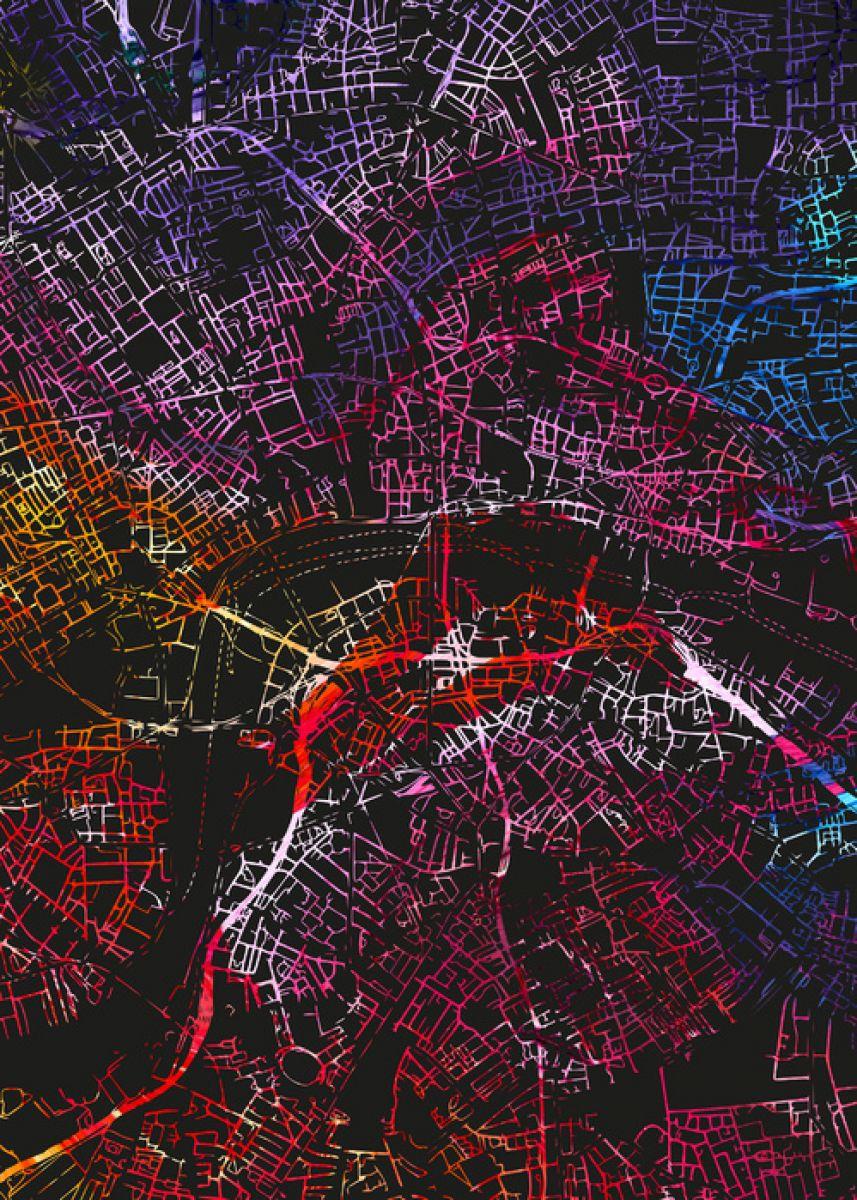 輸入壁紙 カスタム壁紙 Photowall London In England Map E313261