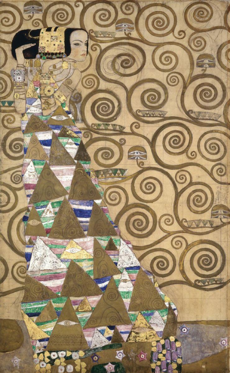 輸入壁紙 カスタム壁紙 Photowall Expectation Gustav Klimt 壁紙屋本舗
