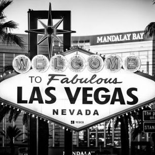 輸入壁紙 カスタム壁紙 PHOTOWALL / Black Nevada - Welcome to Las Vegas (e328644)