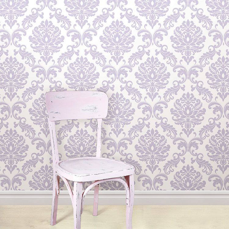 はがせる 壁紙 シール 「NUWALLPAPER」 Purple Ariel Peel And Stick Wallpaper / NU1396