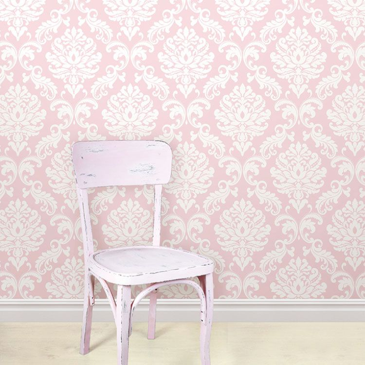 はがせる 壁紙 シール 「NUWALLPAPER」 Pink Ariel Peel And Stick Wallpaper / NU1397