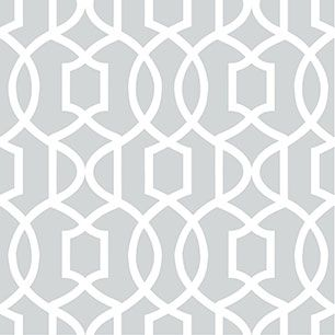 【サンプル】はがせる 壁紙 シール 「NUWALLPAPER」 Gray Grand Trellis Peel And Stick WALLPAPER / NU1421