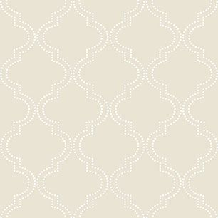 【サンプル】はがせる 壁紙 シール 「NUWALLPAPER」 Taupe Quatrefoil Peel And Stick WALLPAPER / NU1425