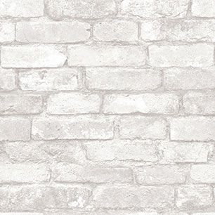 【サンプル】はがせる 壁紙 シール 「NUWALLPAPER」 Grey and White Brick Peel And Stick WALLPAPER / NU1653